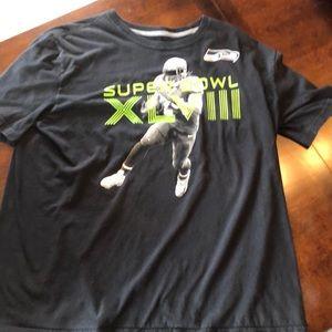 Nike Seattle Seahawks Super Bowl 48 Tee Shirt.